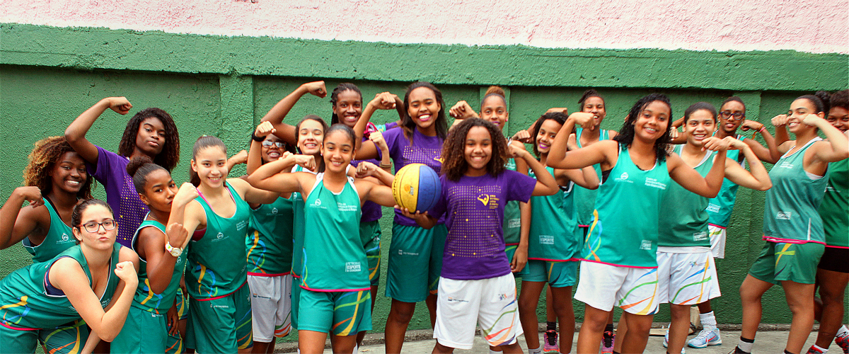 Oct 2019 Girl Child Adolescent Girls participating in sports programme in Brazil Image credit UN Women Gustavo Stephan
